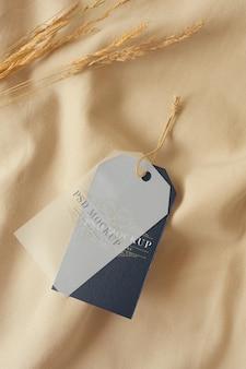 Макет ярлыка для одежды