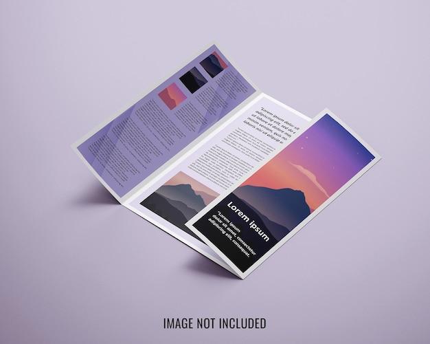 Gate fold brochure mockup