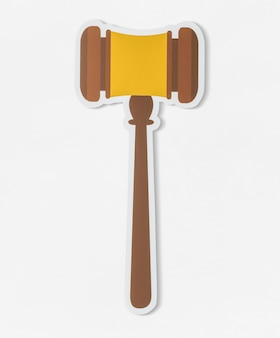 Gavel for court of law icon