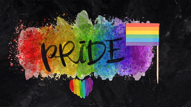 Gay pride background with elements