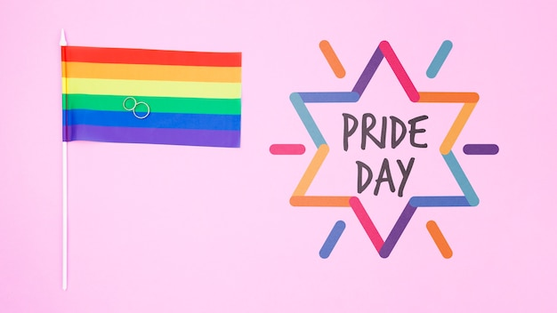Gay pride background with the rainbow flag