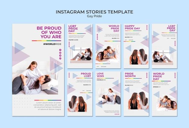 Gay pride instagram stories template