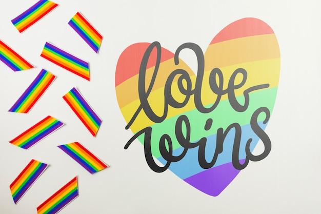 Gay pride mockup