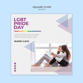 Gay pride square flyer стиль Бесплатные Psd