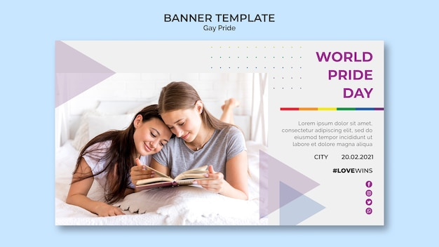 Gay pride баннер стиль шаблона
