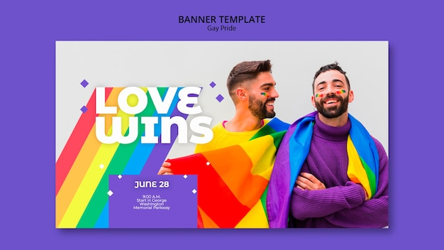 Gay prinde concept banner template