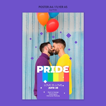 Gay prinde concept poster template