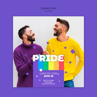 Gay prinde concepts square flyer template