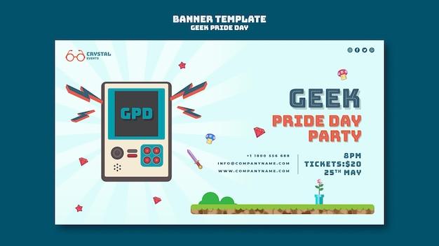 Шаблон баннера на день гордости компьютерных фанатов