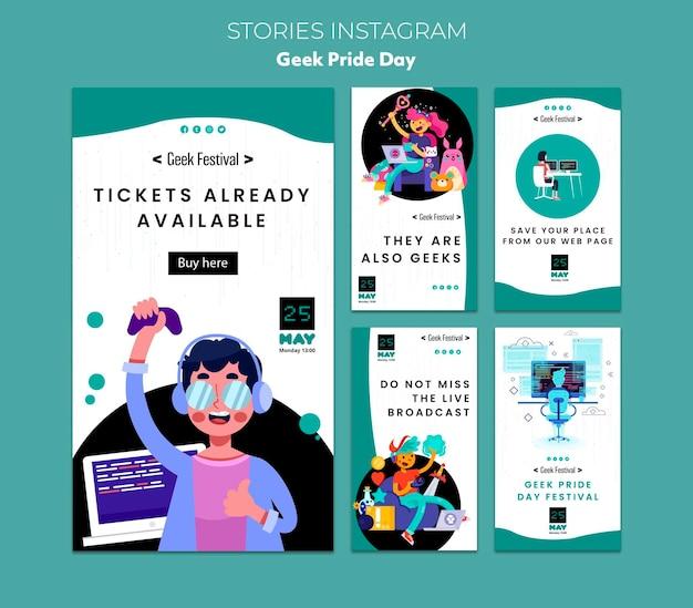 Geek pride day instagram stories