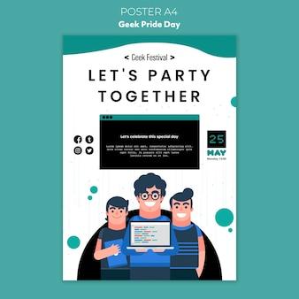 Geek гордость день плакат