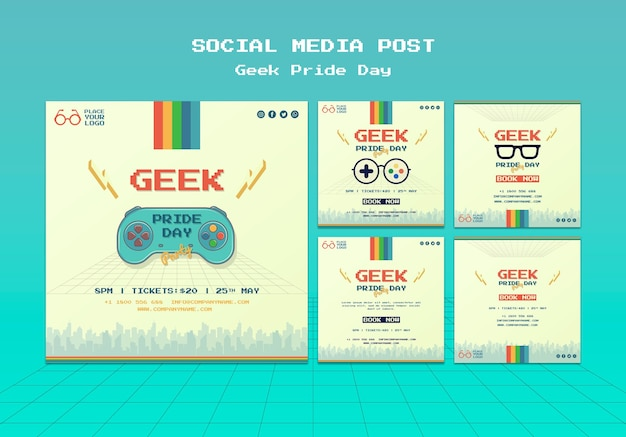 Geek pride day social media post