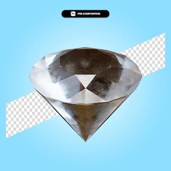 Gemstone 3d render illustration isolated