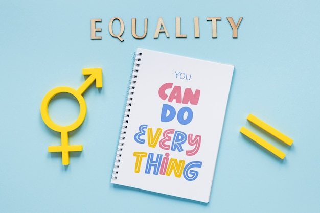 Gender equality concept mock-up