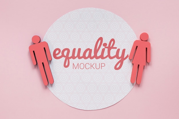 Gender equality concept mock-up