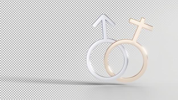 Символы гендерной идентичности - мужской женский Premium Psd