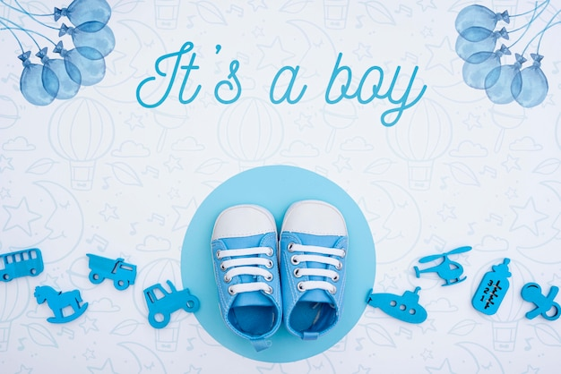 Gender reveal baby shower for boy
