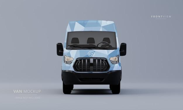 Generic utility car mock up front view van mockup