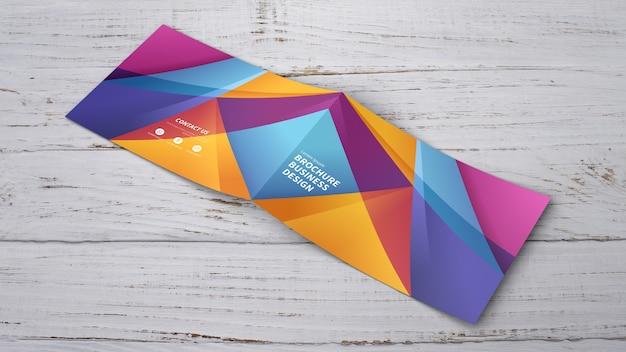 Brochure geometrica modello