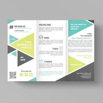Geometric business trifold