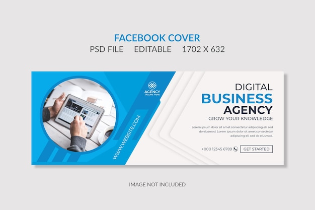 Geometric facebook cover banner template