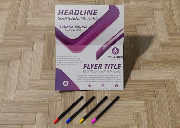 Geometric mock-up flyer design template