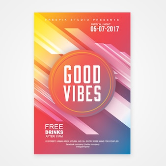 Geometric poster template