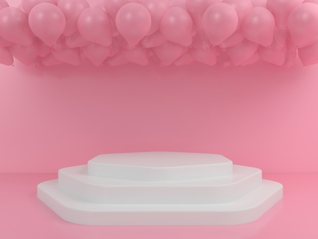 Геометрическая форма белый подиум дисплей макет