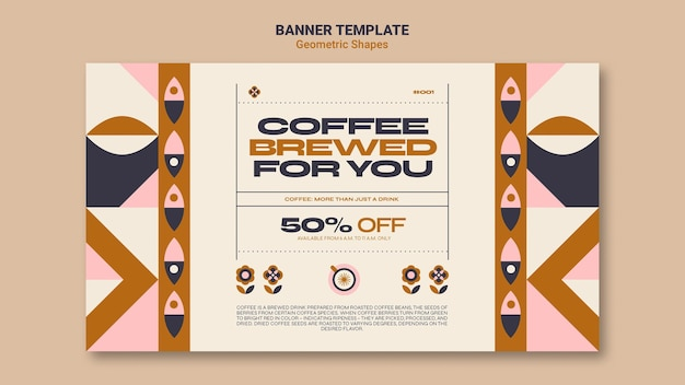 Geometric shapes banner template