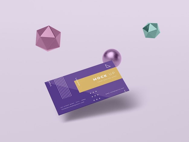 Geometric shapes concept mock-up