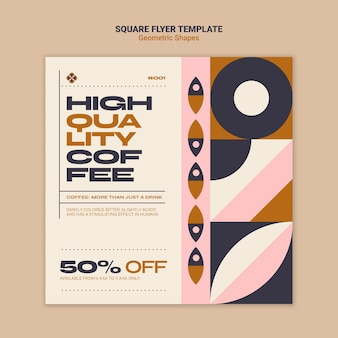 Geometric shapes squared flyer