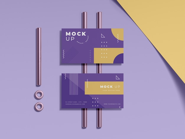 Geometrical shapes concept mock-up