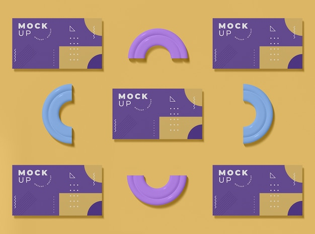 Geometrical shapes concept mock-up Free Psd