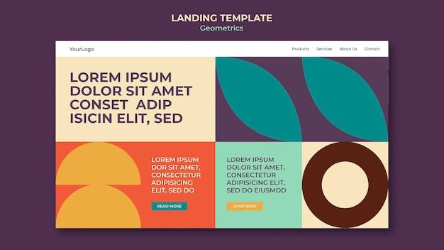 Geometrics landing page