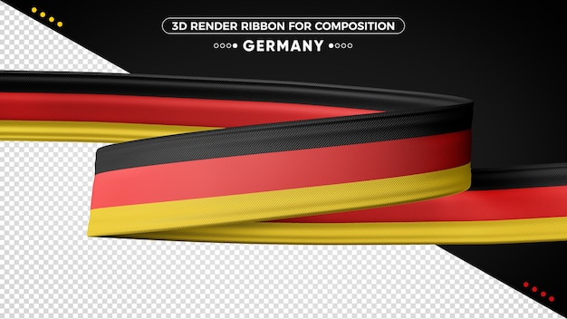 Germany 3d render ribbon for composition