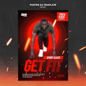 Шаблон постера get fit
