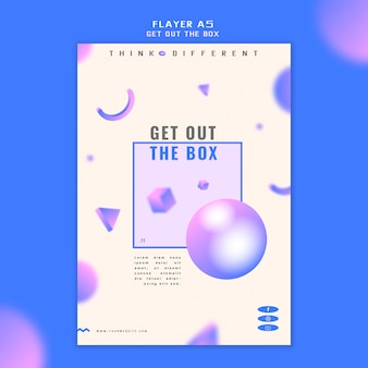 Get out the box flyer concept template
