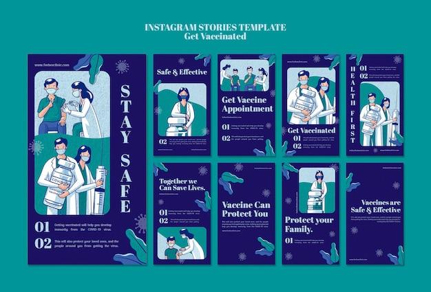 Ottieni il set di storie instagram vaccinate
