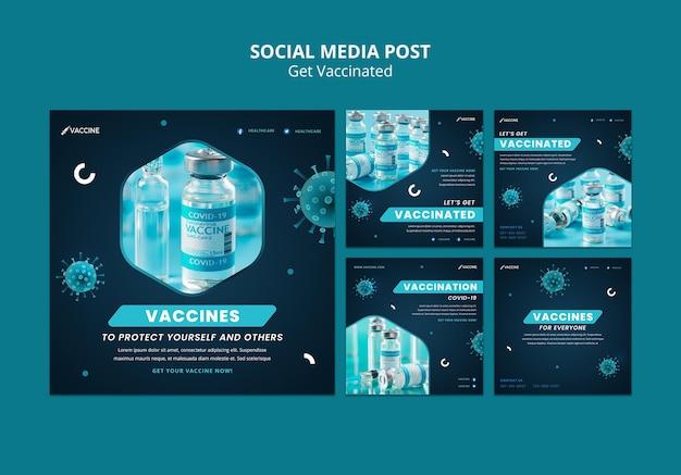 예방 접종 소셜 미디어 게시물 받기