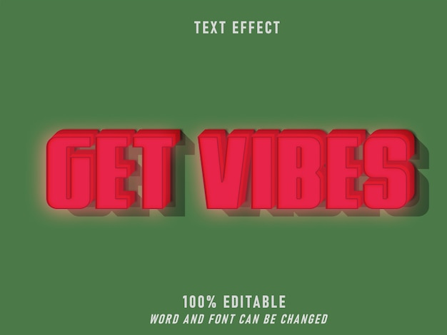Get vibes lightning effect retro style editable  style vintage
