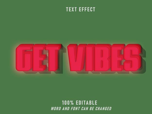 Get vibes lightning effect ретро стиль редактируемый стиль винтаж