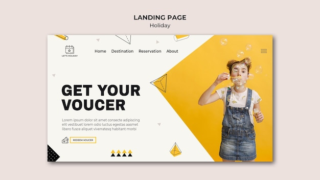 Get your voucher holiday party landing page