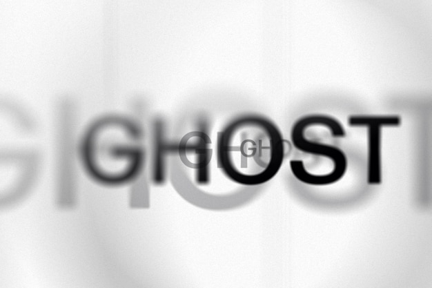 Ghost lettering text effect template