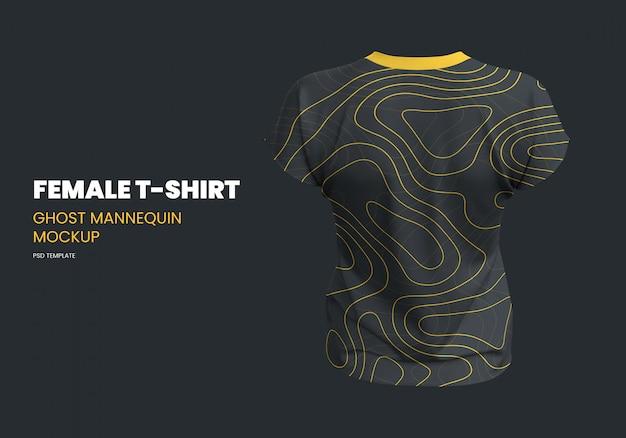 Женская футболка ghost mannequin mockup