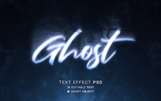 Ghost text effect writing