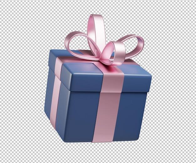 Подарочная коробка 3d иллюстрации