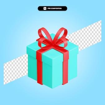 선물 상자 3d 렌더링 그림 절연