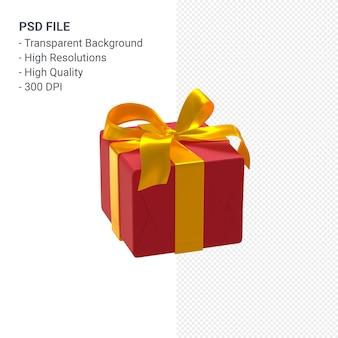 아름 다운 리본 및 활 절연 선물 상자 3d