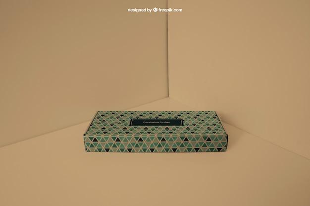 Gift box in corner