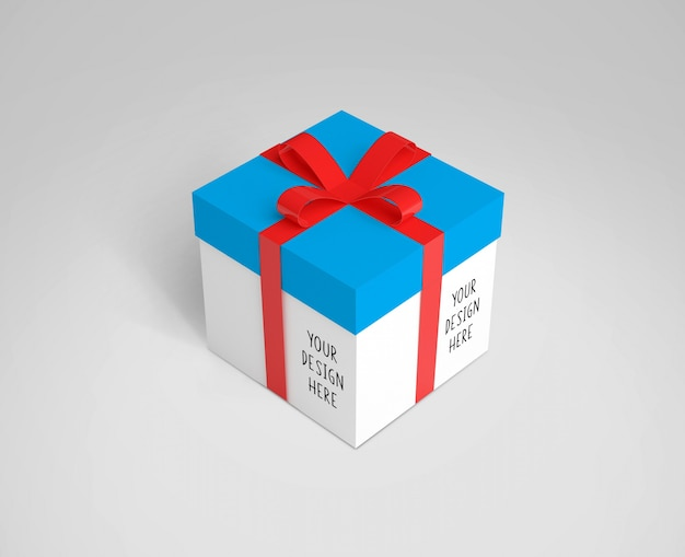 Gift box mock up